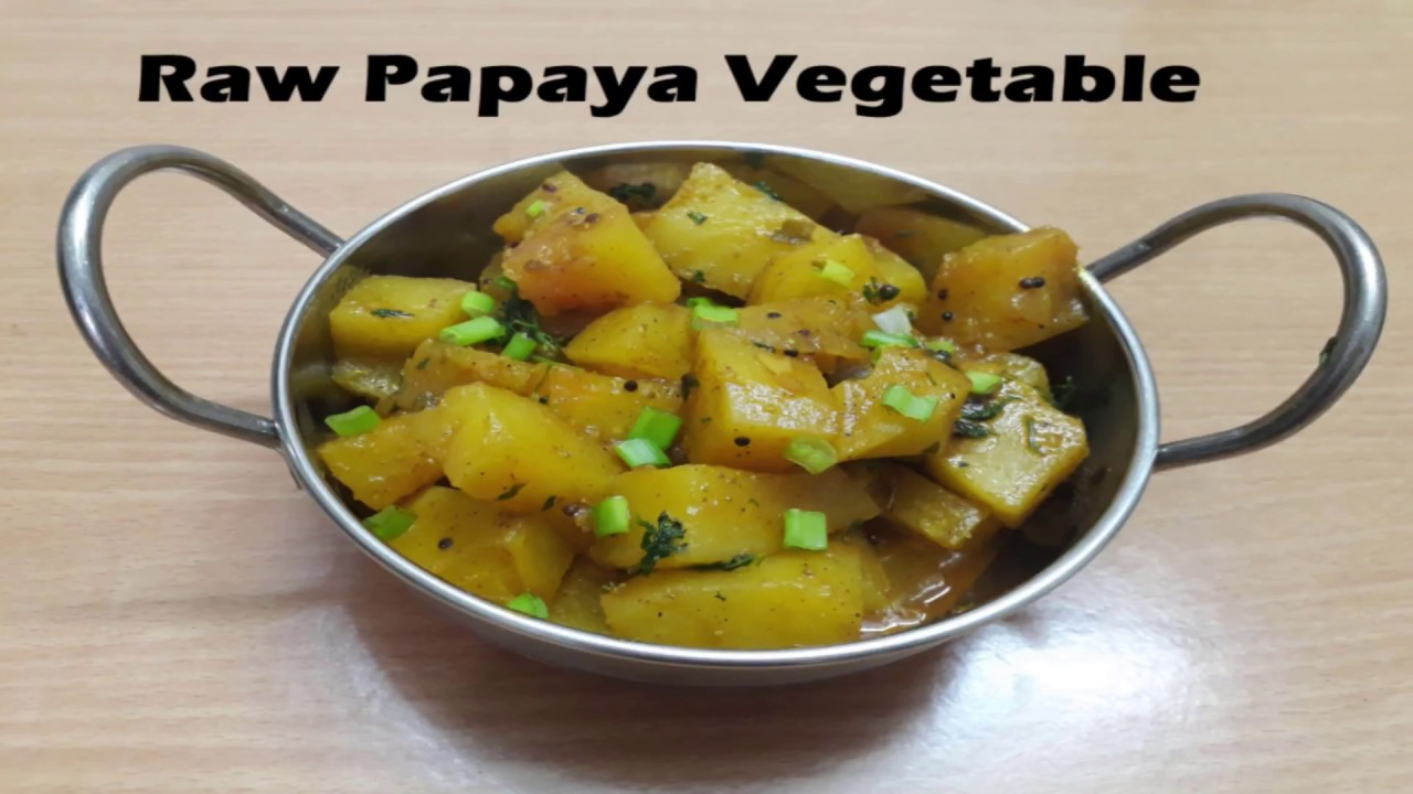 Raw papaya curry green raw papaya subzi indian vegetarian recipe raw papaya curry green raw papaya subzi indian vegetarian recipe video raw papaya forumfinder Images