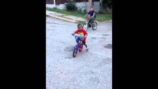 The youngest bike rider I've ever seen 2yr old & fully potty trained