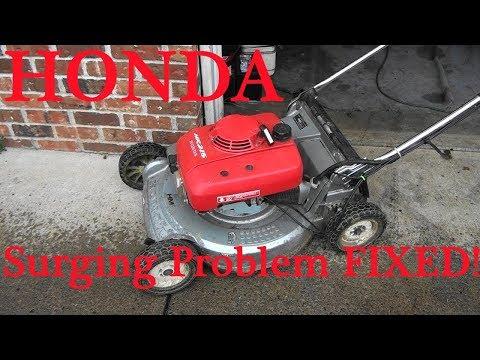 HONDA Lawnmower COMMON SURGING Problem FIX. Unplug Carburetor JETS. Is it the MAIN JET or SLOW JET?