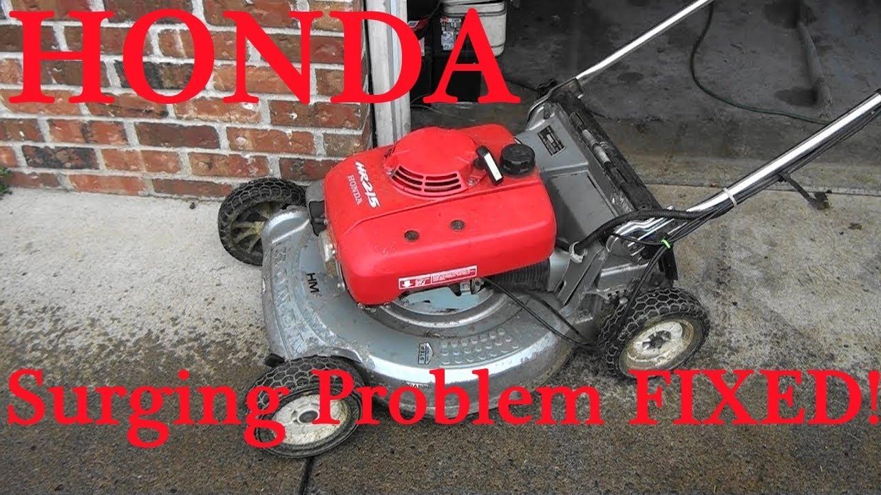 HONDA Lawnmower COMMON SURGING Problem FIX  Unplug Carburetor JETS  Is it  the MAIN JET or SLOW JET?