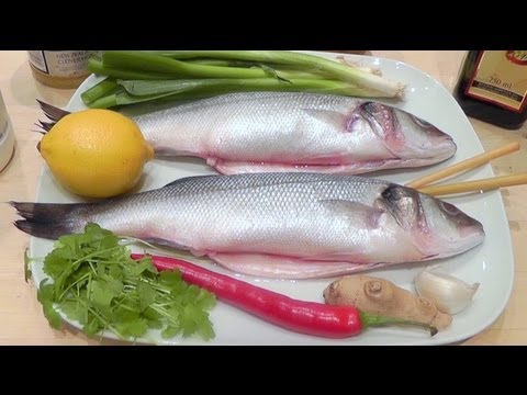 How To Cook Fish SEA BASS Recipe With Chilli Ginger