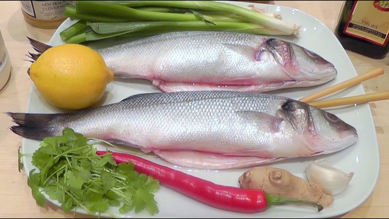 How to cook fish sea bass recipe with chilli ginger youtube for How to make fish