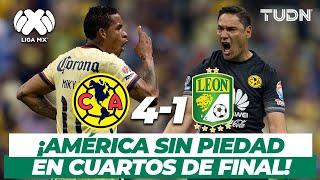 ¡Qué goliza! América destroza a León en Cuartos | América 4-1 León | AP-2015 | TUDN