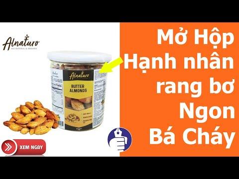 Nên dùng Hạnh Nhân Rang bơ mỗi ngày rất có lợi cho sức khỏe Tim mạch | Alnaturo Butter Almonds