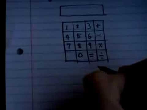 Как из бумаги сделать калькулятор