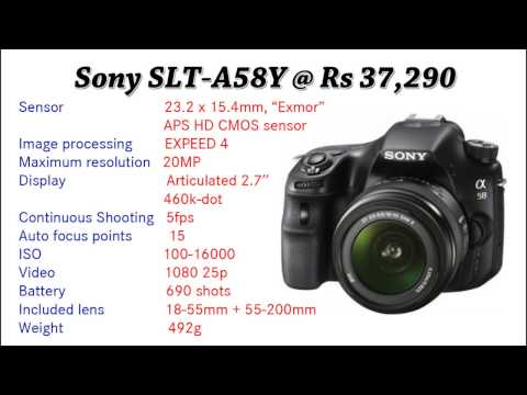 Top 10 Best DSLR cameras under Rs 20,000 - 40,000 | 2017
