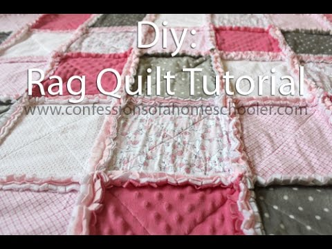 How To Make A Rag Quilt Tutorial YouTube Amazing How To Make A Quilted Throw Blanket