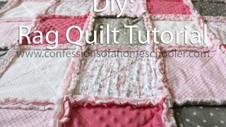 How to make a Rag Quilt Tutorial Thumbnail