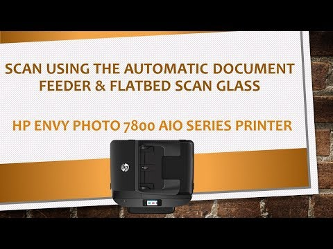 HP Envy Photo 7800 series printers:Using the ADF & flatbed scan glass to scan & save a PDF document