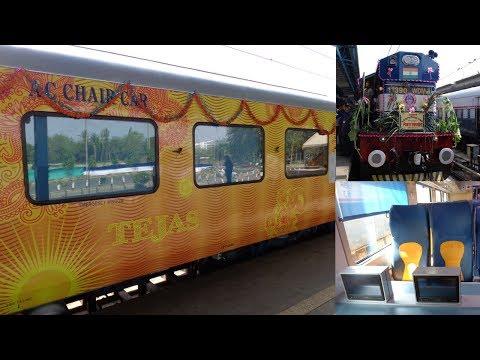 Mumbai - Goa Tejas Express - India's First Luxurious Hi-Tech Train Inauguration