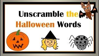 Unscramble the Halloween Words