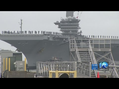 USS Abraham Lincoln returns to Norfolk after 4-year overhaul