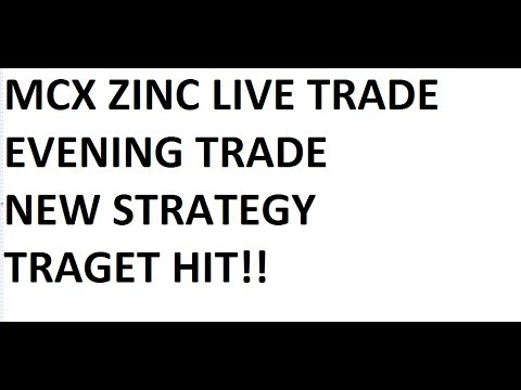 Live Intraday Trading - Mcx ZInc,  Evening Session - Target