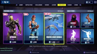 Fortnite live item shop 2-9-19