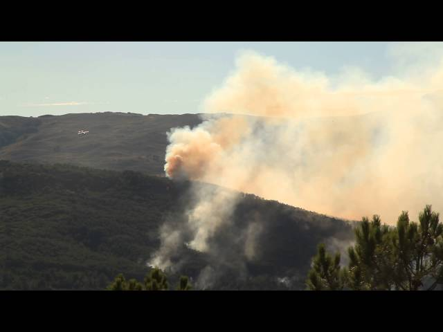 Incendio en Acebo. Un trabajo de JP FILMS publicado por www.sierradegatadigital.es