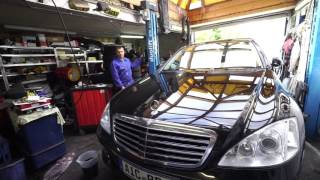 Замена масла в коробке W221 Mercedes Benz S320