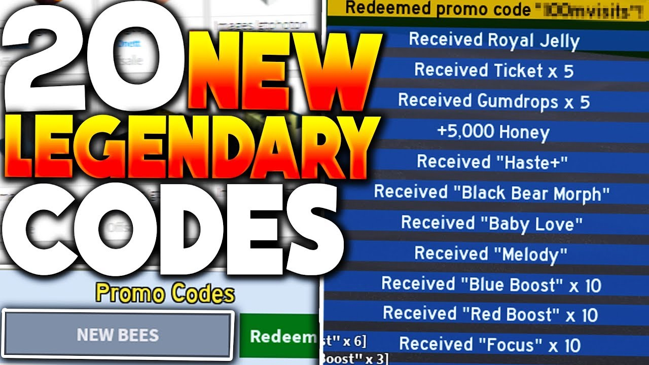 New 20 Legendary Roblox Bee Swarm Simulator Codes New Bees