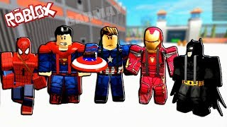 ROBLOX - Simulateur de super-héros - Spider-Man, Superman, Captain America, Ironman , Batmen Gemplay