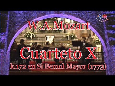 Cuarteto X en Si Bemol Mayor k.172 (1773) W.A.Mozart