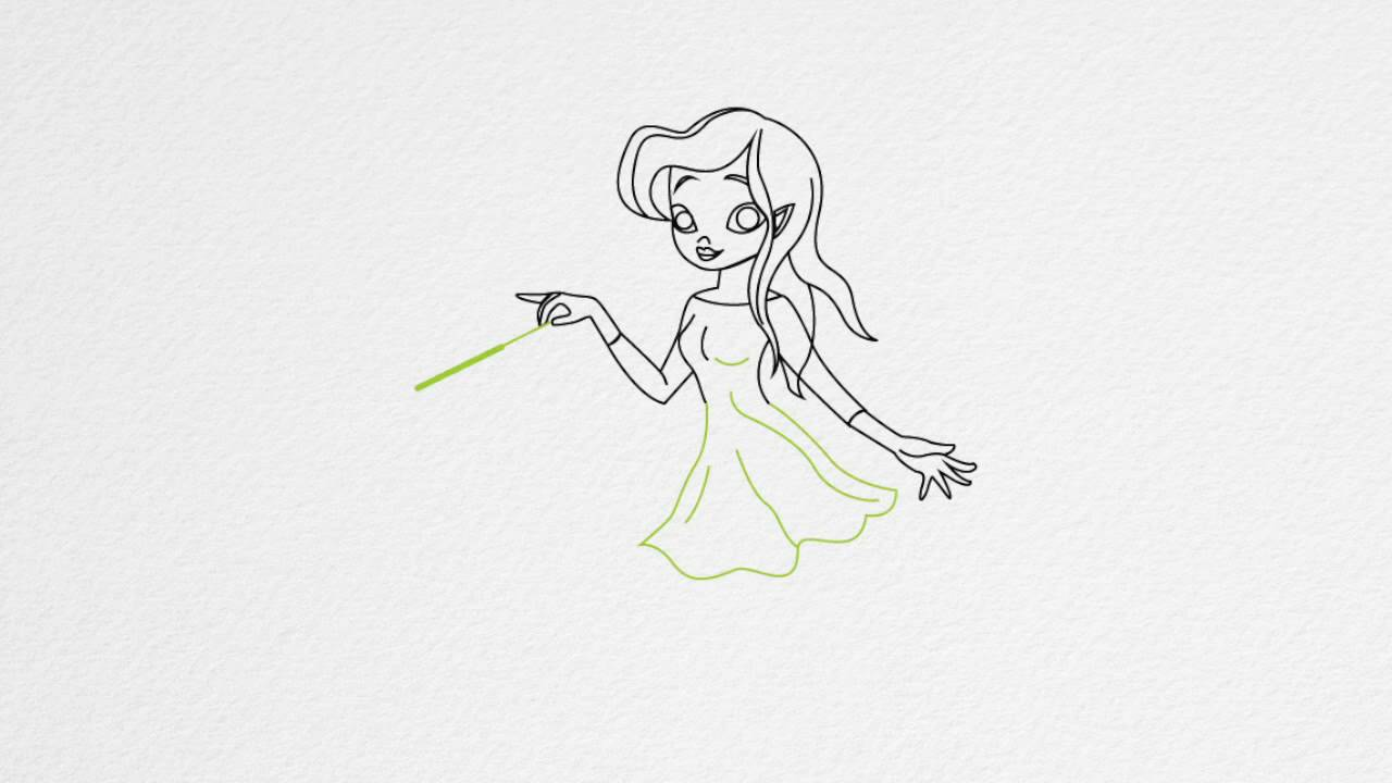 How to draw a fairy step by step youtube