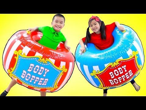 Jannie Pretend Play at the Kids Amusement Park Carnival | Fun Children Toys