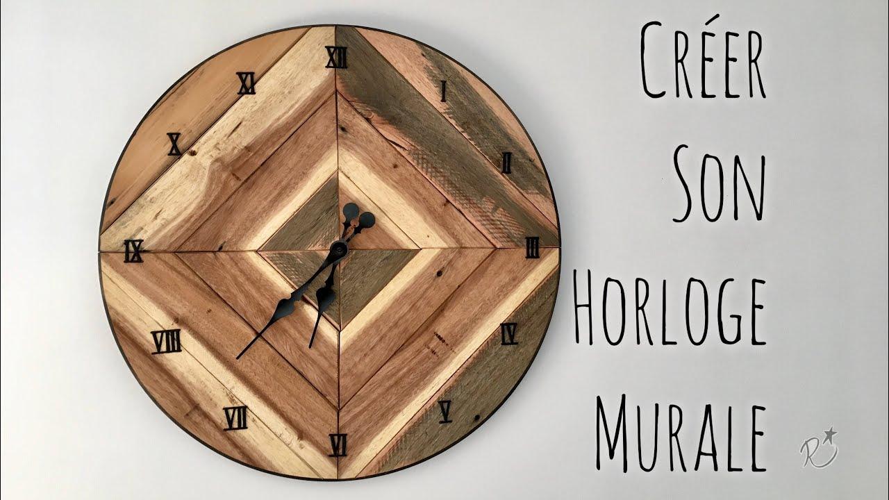 fabriquer une horloge diy making a wall clock youtube. Black Bedroom Furniture Sets. Home Design Ideas