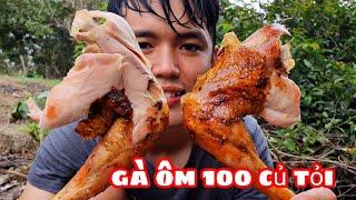 Thử Làm Gà Nướng Với 100 Củ  Tỏi | Ẩm Thực Sinh Tồn Trong Rừng