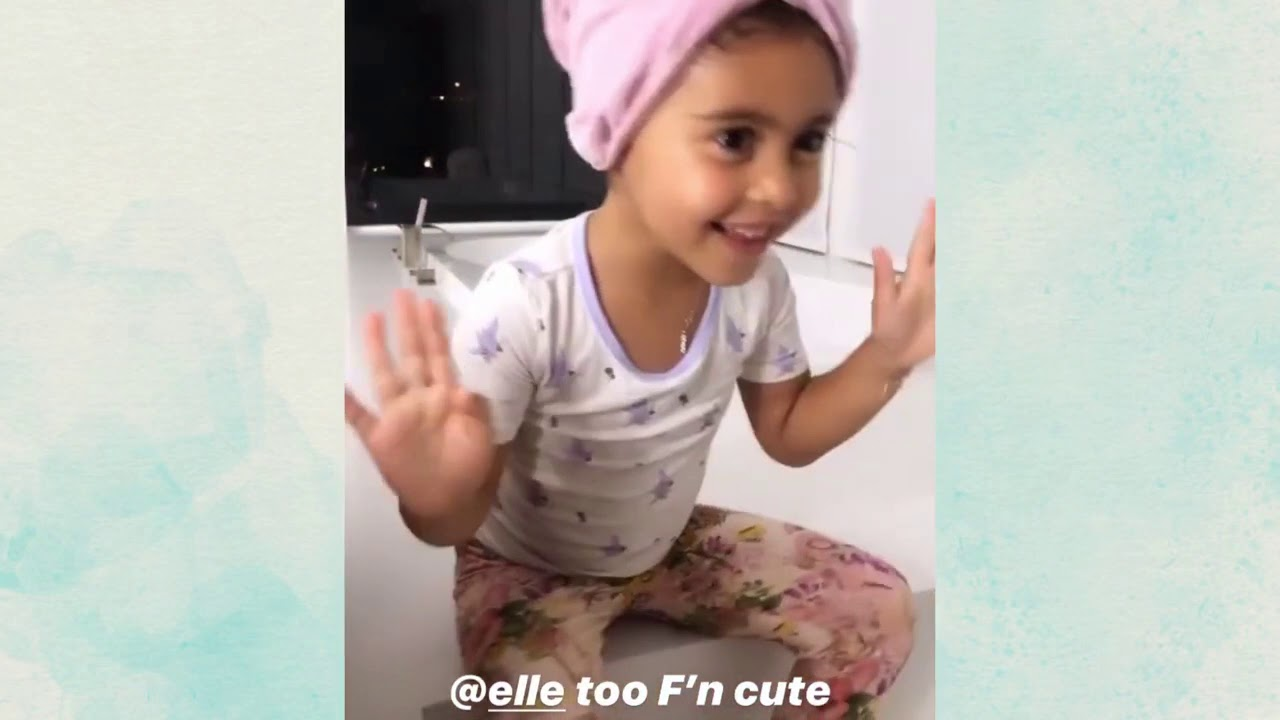 ELLE AND STEEL CUTE MOMENTS! ALAIA BRUSHES HER OWN TEETH THE ACE FAMILY