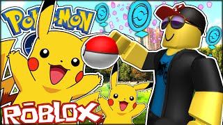 AVERTISSEMENT D'HEADPHONES NOUS GOT PIKACHU!!!   AVENTUREs ROBLOX (Roblox Pokemon Go #2)