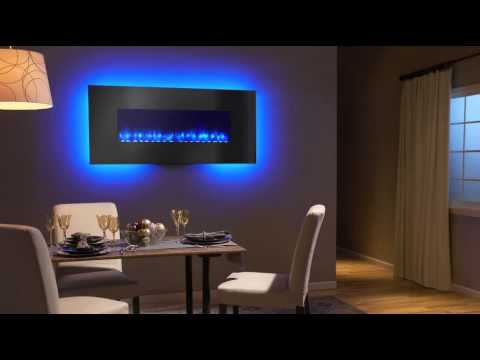 SimpliFire Linear Wall mount Electric fireplace video - SimpliFire Linear Wall Mount Electric Fireplace Video - YouTube