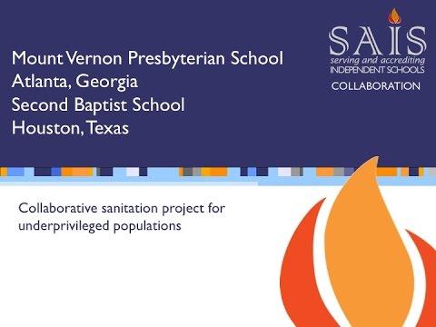 2016 SAIS Collaboration Grants: Second Baptist School, TX and Mount Vernon Presbyterian School, GA