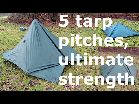 Tarp camping in awful weather: yes it's possible with these 5 enclosed setups