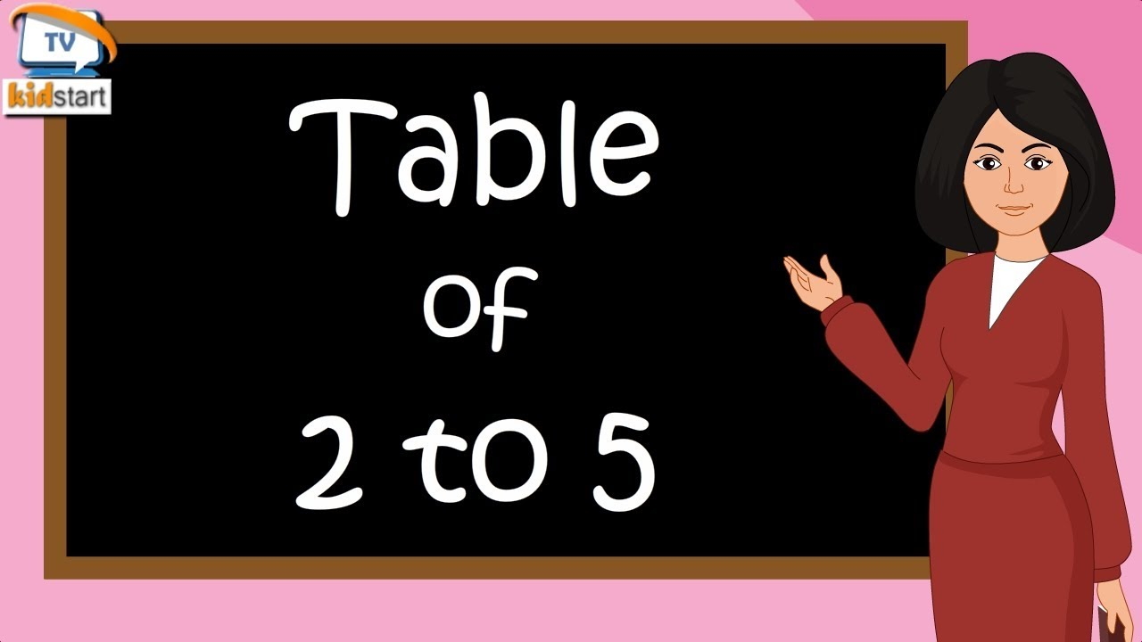 Download Table of 2 to 5 | Rhythmic Table of Two to Five | Learn Multiplication Table of 2 to 5 | kidstartv