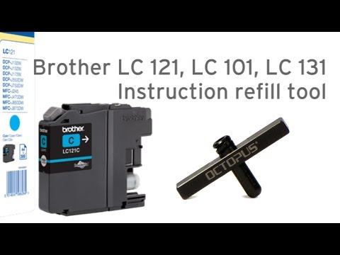 Refill Brother LC121, LC101, LC131 cartridge refill tool