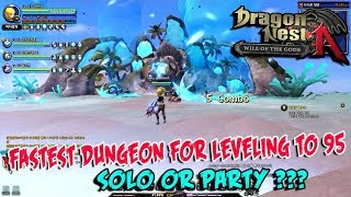 Dragon Nest - Fastest Dungeon for leveling 95 - SOLO or PARTY???