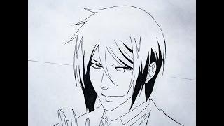 How to draw Sebastian Michaelis (Kuroshitsuji)