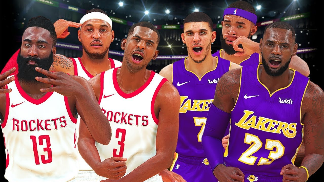 LA Lakers vs Rockets First Game - BETTER or Worse With Melo? - NBA 2K18