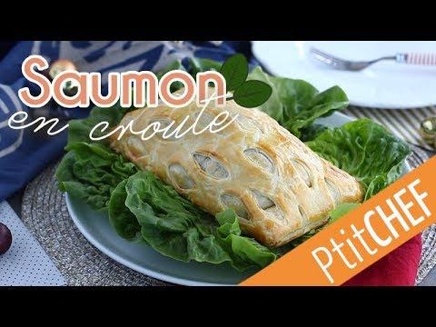 recette-de-saumon-en-croûte,-mozzarella-et-épinards---ptitchef.com