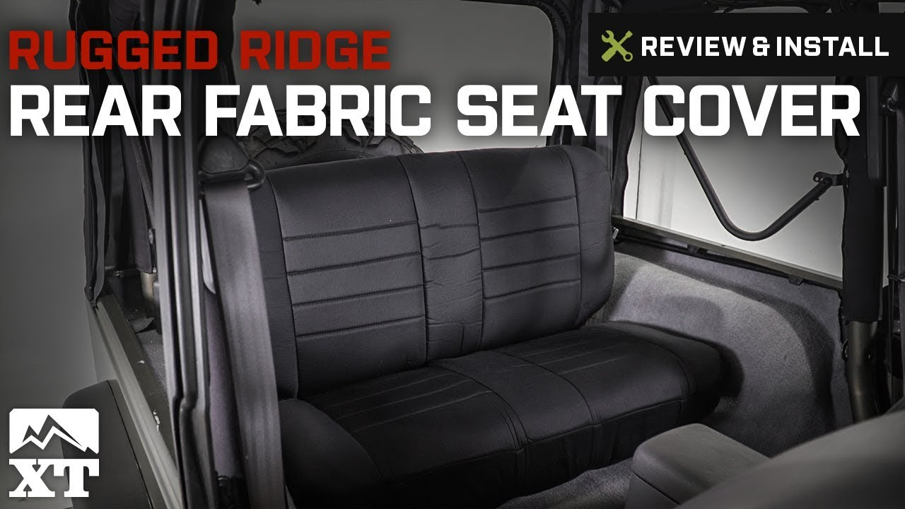 Jeep Wrangler Rugged Ridge Rear Fabric Seat Cover (1997 2002 TJ) Review U0026  Install