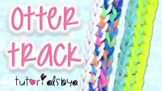 NEW Otter Track Rainbow Loom Bracelet Tutorial | How To Thumbnail