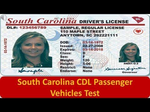 South Carolina CDL Passenger Vehicles Test