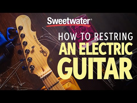 How to Re-string an Electric Guitar
