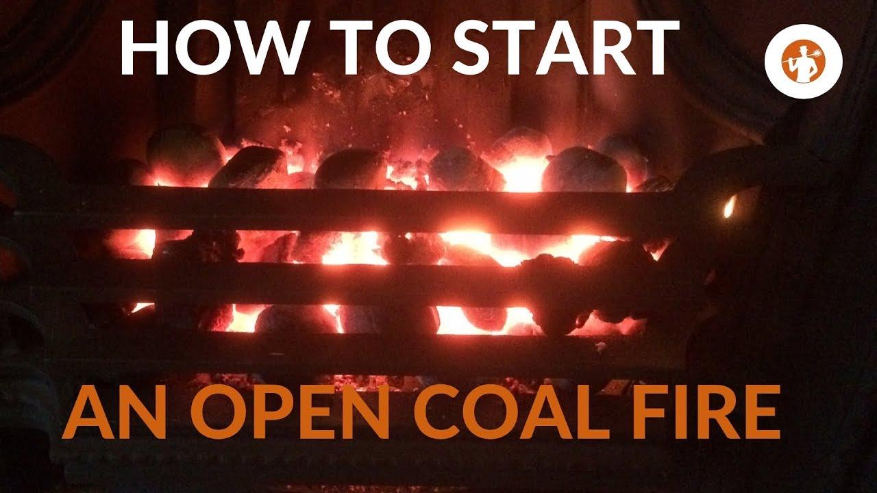 OPEN FIRE? The #1 Best Way To Start A Smokeless Coal Fire - YouTube
