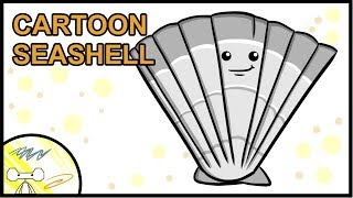 How to Draw a Cartoon Seashell