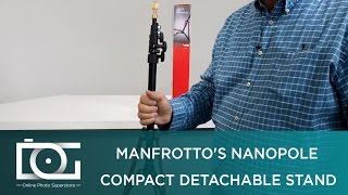 REVIEW | MANFROTTO Nanopole Lightweight Compact Stand w/ Detachable Pole For Lights & Others