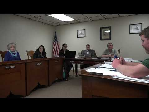 Mt. Pulaski, IL. City Council Meeting 3-27-2018