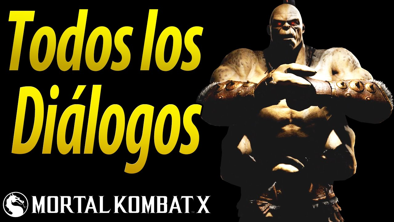 Mortal Kombat X | Español Latino | Todos los Diálogos | Goro | Xbox One |