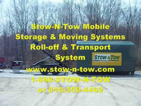 Portable On Site Storage Shed Container Roll Off Trailer Demo Stow