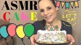 ASMR EATING CAKE 🍰  EATING CAKE SHOW ASMR 🎂🍴 Vanilla Cake ASMR 🍰 Whispering & Chatting