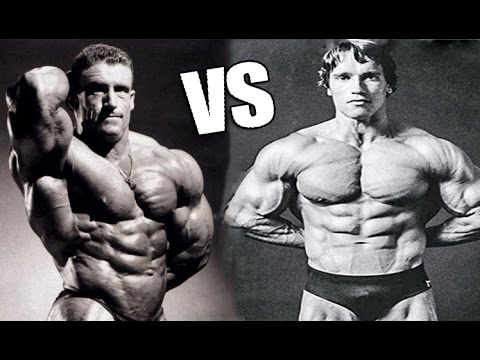 Arnold Schwarzenegger vs. Dorian Yates ( The Austrian Oak Vs. The Shadow ) HD